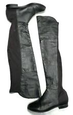 """Chinese Laundry """"Riley"""" Black Leather and Fabric Over-the-Knee Boots Size 8.5"""