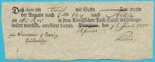 Postscheine Preußen Postschein Vierzeilig with Ortseindruck Prenzlow