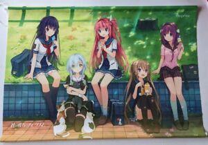 Aokana: Four Rhythm Across the Blue B2 Wall Scroll Tapestry Visual Novel Group