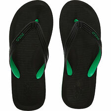 POLO RALPH LAUREN Whittlebury Flip Flops. Black - Green. Size 10.