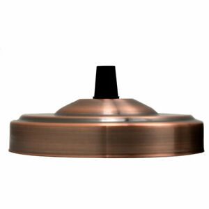 Single outlet metal ceiling rose vintage industrial brushed for fabric cable