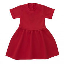 Baby Toddler Girls' Red Dress,Short Sleeved,Fleece lined,sizes 6-12mths- 5-6yrs