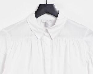 Topshop Flutter White Shirt Uk S Rrp £29.00