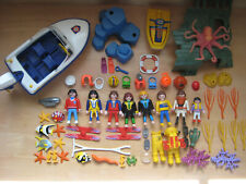 Playmobil City LOT Boating 3009 3065 3948 3949 3953 Motorboat Jet Ski Scuba