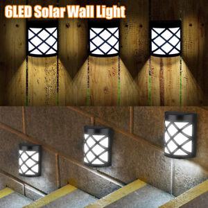 6 LED Waterproof Solar Lights Motion Sensor Wall Light Outdoor Garden Yard Lamp