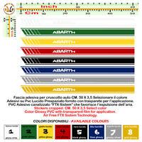 Adesivi prespaziati fascia cruscotto abarth dashboard sticker pvc 1PZ Cm. 50x3.5