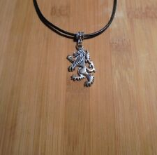 Dragon Creature Charm Leather Cord Necklace**~Free Ship