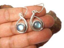 LABRADORITE   Sterling  Silver  925  Gemstone  EARRINGS  -   Gift  Boxed!