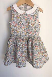 Jodhpur Liberty Floral Baby Dress Size 12-18 Months Peter Pan Collar
