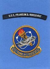 USS Franklin D. Roosevelt CVA 42 Navy Jacket Patch with Shoulder Tab