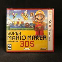 Super Mario Maker for Nintendo 3DS / BRAND NEW / US Version / Original Cover