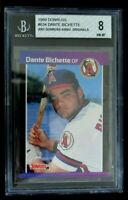 Beckett Graded 8 NM-MT 1989 Donruss Dante Bichette Los Angeles Angels