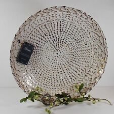 White Gold Handmade Glass Large  Bowl/Silverina/Silver 99%/Made in Turkey