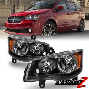 11-17 Dodge Grand Caravan 08-16 Chrysler Town&CountryBlack Amber Headlight Lamp