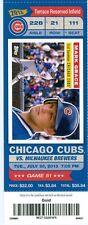 2013 Cubs vs Brewers Ticket:  Juan Francisco hit a home run