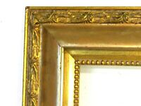 ANTIQUE CARVED GILDED WOOD FRAME FOR PAINTING 14 X 11 INCH