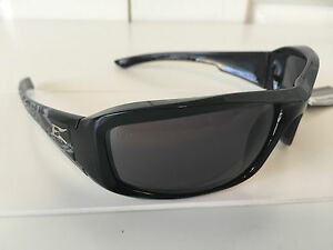 Edge Brazeau Black Frame Non-Polarized Smoke Lens Safety / Sun Glasses XB116-K