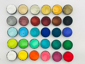 Hochwertige Künstlerpigmente Epoxidharz, Acrylfarbe, Kreidefarbe Set 1AA12