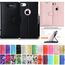 Apple iPhone 4g 4s 5S  se 6 6s 7 8 & iphone x Wallet  leather Case Cover +stylus