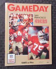 1991 GAME DAY San Francisco 49ers Program NM vs. NY Giants Football NFL