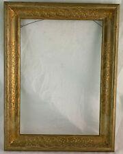 """Vintage Picture Frame Wooden Gold Gilt 16 1/2"""" X 12 1/2"""" Leaf Garland"""