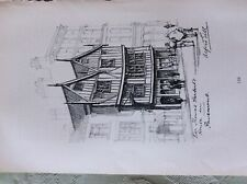 A2e ephemera Book plate sir thomas herbert's house alfred gill
