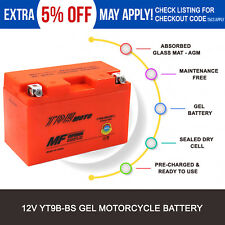 GEL YT9B-BS YT9BS Battery 12V 9AH Replacement YUAM629B4 for Yamaha Motorcycle AU