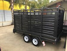 12x6 Stock Crate Tandem Trailer