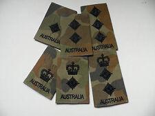 Auscam, Australian Army Officer Rank sliders. 2/Lt-Col. New + unissued. Pair