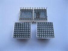 8 pcs Dot Matrix LED Display 1.9 mm 8x8 Red Common Cathode 20x20mm 16pin