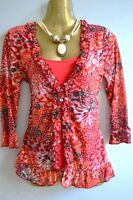 M&S Per Una lovely red 2 piece jersey top NEW size 8-20