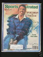 1985 Sports Illustrated-Los Angeles Lakers Kareem Abdul Jabbar Sportsman Of Year