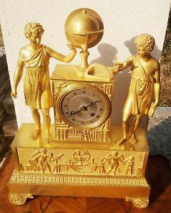 Parigina impero in bronzo dorè ,allegoria dell'Astronomia firmata N B Deshamp