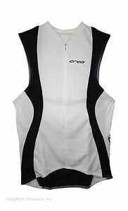 new Orca Made in Italy stretch tri-pocket singlet triathlon top men's white race