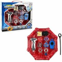 4 pcs Boxed Beyblade Burst 4D Launcher Arena Metal Spinning Top +Grip Kids Gift