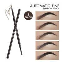 Super Slim Eyebrow Pencil Dual Ended With Eyebrow Brush Waterproof  Eyebrow