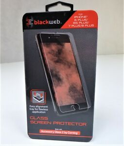 Blackweb Glass Screen Protector for iPhone 6+/7+/8+, High-Clarity Construction