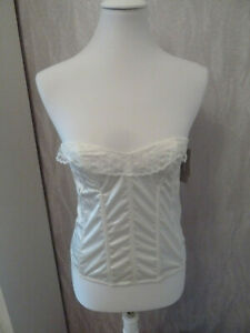 Corsage White With Etwas Lace Size 38 French Fashion