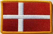 DENMARK Flag Patch With VELCRO® Brand Fastener Military Tactical  Emblem #09