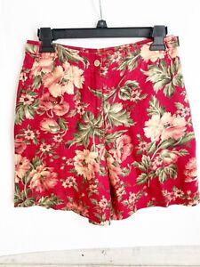 Raloh Lauren Linen Floral Shorts Size 4