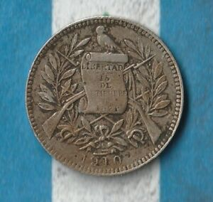 1910 Guatemala 1 Real- Exotic Copper/ Nickel 110 year old coin