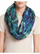 Rose & Rose Scarf $248 Rectangle Ikat Jeweled Bohemian Gypsy Blue Green New NWT