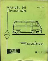 RENAULT ESTAFETTE, MANUEL DE REPARATION, ANNÉE 1959, R 2130 ET 2131