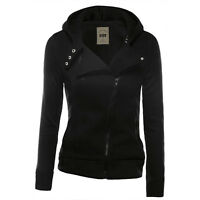 Women Winter Hooded Zip Up Top Jacket Hoodie Sweatshirt Slim Coat Jumper Outwear