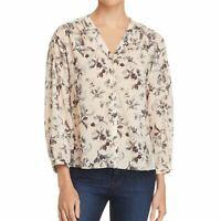 REBECCA TAYLOR NEW Women's Sofia Silk-blend Floral Button Down Shirt Top TEDO