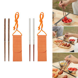 Chopsticks Outdoor Camping Chinese Chopstick Travel Retractable Cutlery
