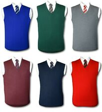 """Traditional School Uniform Slipovers / Tank Tops . Various Colour. Up To 46"""""""
