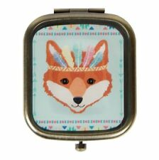 Sass & Belle Fox Retro Animal Plegable Compacto Espejo Maquillaje