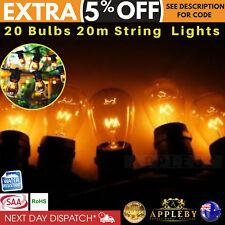 20m Festoon String Lights Bulb Kits Wedding Party Fairy Vintage Retro Christmas
