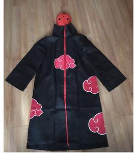 Naruto Akatsuki uchiha madara Robe Cloak Anime Costume Cosplay with a Tobi Mask